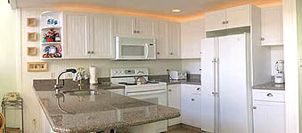 Upgraded kitchen in 2-bedroom Unit C-11 at Napili Point Resort, Maui, Hawaii