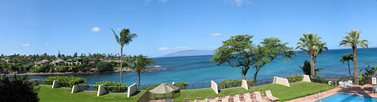 View from Unit C-11 lanai at Napili Point Resort, Maui Hawaii.